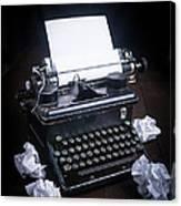 Vintage Manual Typewriter Canvas Print