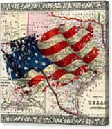 Vintage Map Of Texas 2 Canvas Print