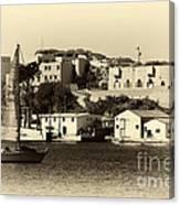 Vintage Marseille Sailing Canvas Print