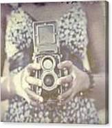 Vintage Medium Format Camera Canvas Print