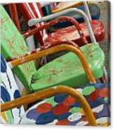 Vintage Metal Outdoor Chairs Canvas Print