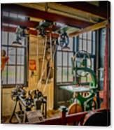 Vintage Michigan Machine Shop Canvas Print
