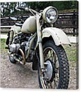 Vintage Military Motorcycle Canvas Print