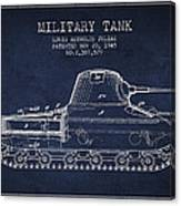 Vintage Military Tank Patent From 1945 Canvas Print