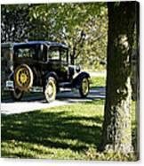 Vintage Moments Ford Tudor Model A Canvas Print