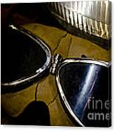 Vintage Motorcycle Goggles Canvas Print
