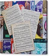 Vintage Music Sheets No.2 Canvas Print