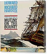 Vintage Mutiny On The Bounty Movie Poster 1962 Canvas Print