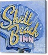 Vintage Neon- Shell Beach Inn Canvas Print