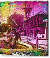 Vintage Neptune Fountain Kansas City Canvas Print