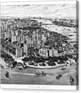 Vintage New York 1903 Canvas Print