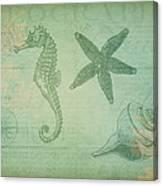 Vintage Ocean Animals Canvas Print