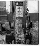 Vintage Old Gas Pump Canvas Print