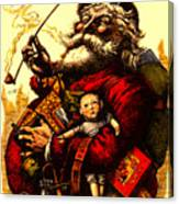 Vintage Original Coca Cola Red Santa Claus Poster Canvas Print