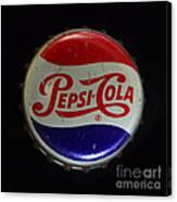 Vintage Pepsi Bottle Cap Canvas Print