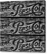 Vintage Pepsi Boxes Canvas Print