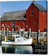 Fishing In Rockport Maine 1970's Canvas Print