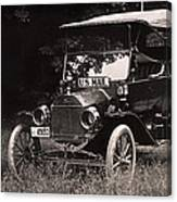 Vintage Photo Of Rural Mail Carrier - 1914 Canvas Print
