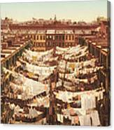 Vintage Photo Of Washing Day In New York City 1900 Canvas Print