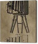Vintage Photographic Camera Patent Canvas Print