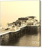 Vintage Pier At Dawn Canvas Print