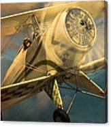 Vintage Plane In Flight Canvas Print
