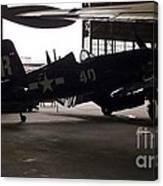 Vintage Planes Silhouette Canvas Print