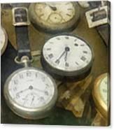 Vintage Pocket Watches Canvas Print