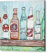 Vintage Pop Bottles Canvas Print
