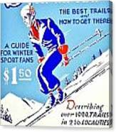 Vintage Poster - Sports - Skiing Canvas Print