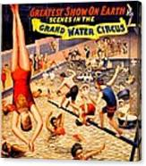 Vintage Poster - Circus - Barnum Bailey Water Canvas Print