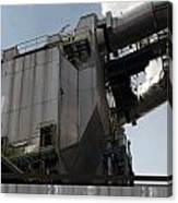 Vintage Power Plant  Part View Industrial Photography Canvas Print