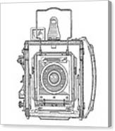 Vintage Press Camera Patent Drawing Canvas Print