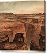 Vintage Print Of The Grand Canyon By William Henry Holmes - 1882 Canvas Print