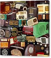 Vintage Radios Canvas Print