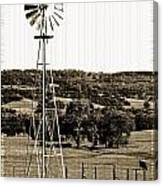 Vintage Ranch Windmill Canvas Print