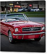 Vintage Red 1966 Ford Mustang V8 Convertible  E48 Canvas Print