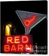 Vintage Red Barn Neon Sign Las Vegas Canvas Print