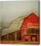 Vintage Red Barn Canvas Print