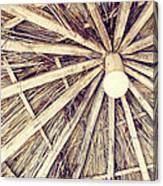 Vintage Reed Roof Canvas Print