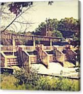 Vintage River Dam Canvas Print