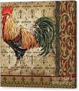 Vintage Rooster-d Canvas Print