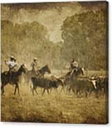 Vintage Roundup Canvas Print