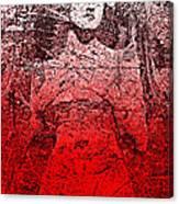 Vintage Ruby Portrait Canvas Print