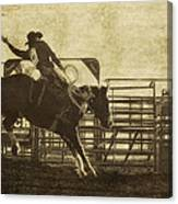 Vintage Saddle Bronc Riding Canvas Print