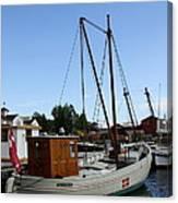 Vintage Sailing Boat - Ct Canvas Print