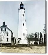 Vintage Sandy Hook Lighthouse Canvas Print
