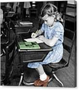 Vintage Schoolgirl Canvas Print