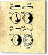 Vintage Self-winding Watch Movement Patent Canvas Print