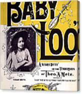 Vintage Sheet Music Cover  Circa 1898 Canvas Print